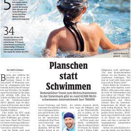 Planschen statt Schwimmen